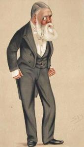 An 1876 caricature of Taylor by
